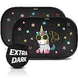 Parasol coche infantil con protección UV extra oscura - autoadhesivo, para...