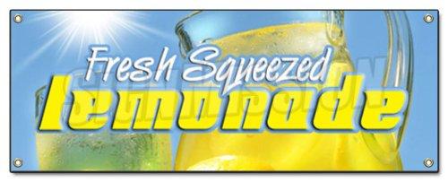 SignMission Limonada Banner signo soporte Fresh Squeezed limón lemonaid LemonAide Ade ayuda