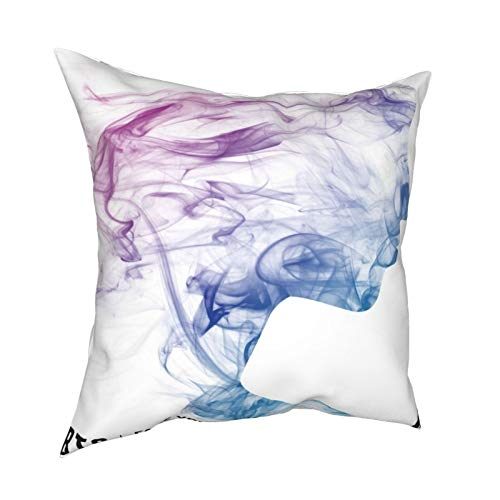 iksrgfvb Pillow Case Cushion Covers Face Yourself Square Pillowcases for Living Room Sofa 18 x 18 inch