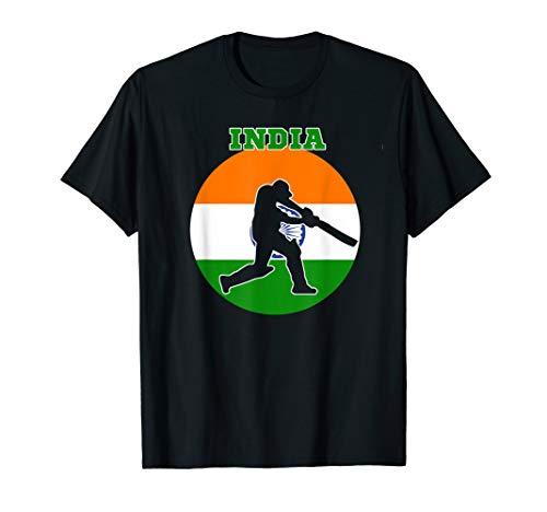 Cricket Apparel India Cricket Jersey Batsmen Design T-Shirt
