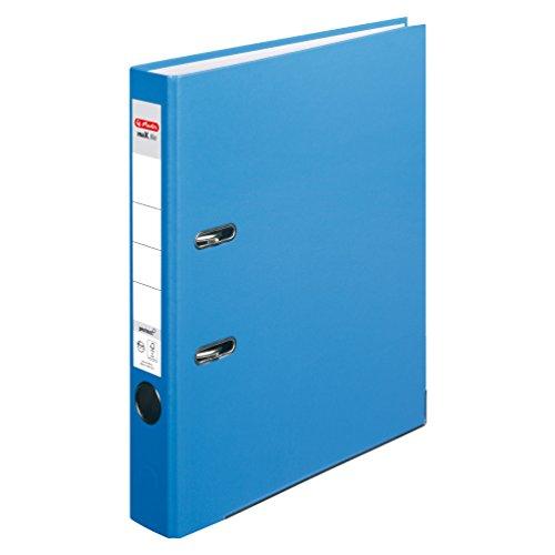 Herlitz 10200293 Ordner maX.file protect (A4, 5 cm, mit Einsteckrückenschild) acqua