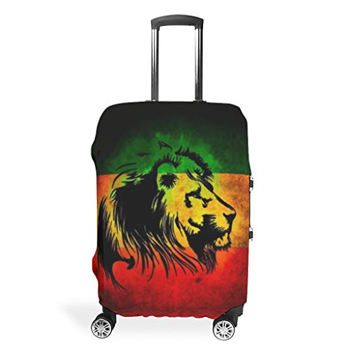 Travel Tiger Lion Animal Suitcase Covers - Polyester 4 Sizes fit Most Suitcase White 19-21in