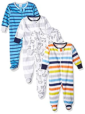 Onesies Brand Baby Boys' 4-Pack Sleep 'N Play, Dog, 3-6 Months