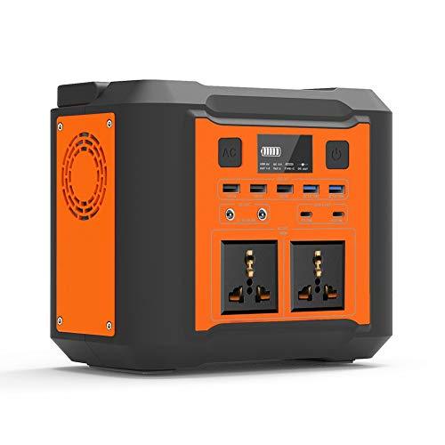 Mobile Stromversorgung Generatoren Tragbarer Power Station, 296Wh/80000mAh Notstrom mit USB DC/AC Wechselrichter und LCD Anzeige LED licht Für Camping Wandern Hausgarten (Orange)