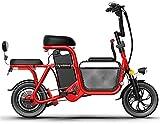 Bicicleta electrica Bicicleta de cercanía eléctrica plegable 12 '' Bicicleta de la ciudad con 350W 48V 20Ah Batería de litio extraíble Batería de gran capacidad Cesta de almacenamiento de grasa Neumát