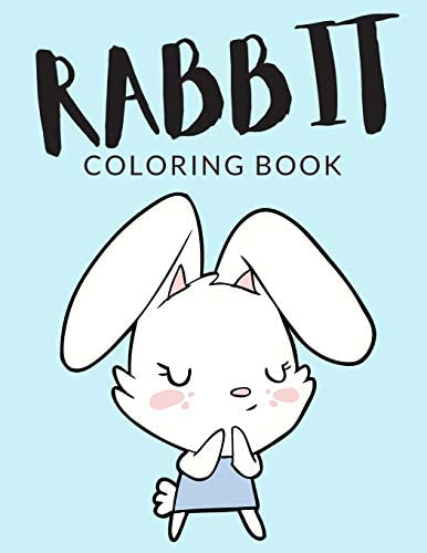 Rabbit Coloring Book Rabbit Coloring Pages For Preschoolers Over 40 Pages to Color Perfect Cute product image