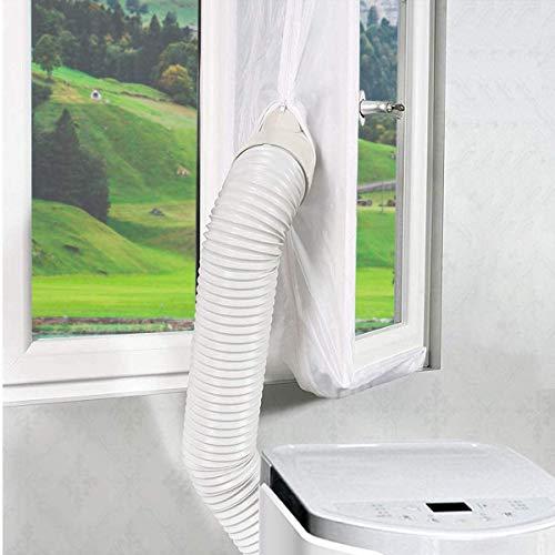 Fensterabdichtung für Mobile Klimageräte und Abluft-Wäschetrockner, passt für meisten Fenstern und Mobile Klimaanlagen, Einfach zu Installieren