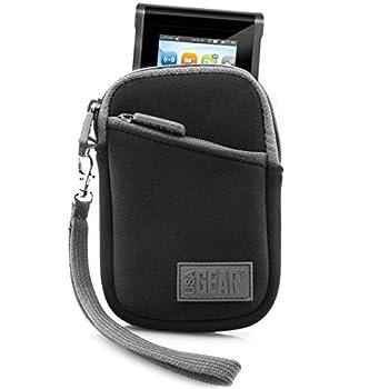 USA Gear Portable Wi-Fi Hotspot Case - Compatible with Verizon MiFi 6620L Ellipsis Jetpack Huawei E5330 Unite Pro Velocity GlocalMe G2 - Protective Sleeve Belt Loop and Wrist Strap - Black