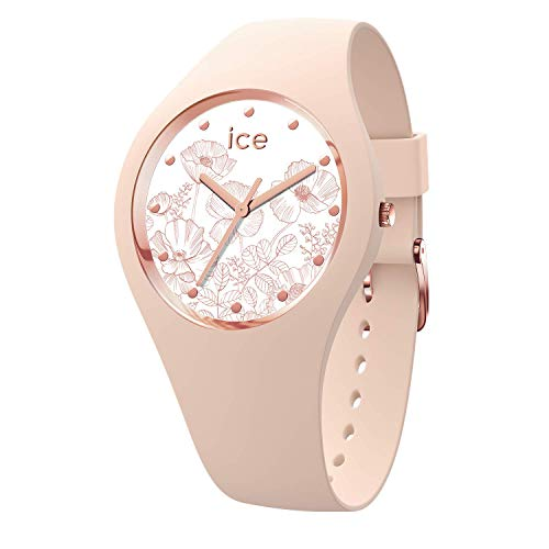 Ice-Watch - ICE flower Spring nude - Women's wristwatch with silicon strap - 016663 (Small)
