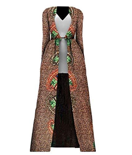 Aooword-women clothes Damen Plusgröße longline cardigan afrikanisch mantel sexy trenchcoat X-Small 2