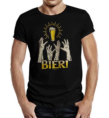 Camiseta de fiesta para beber cerveza – cerveza Negro L
