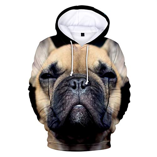 Cute French Bulldog 3D Printed Hoodies Men Women Harajuku Hip Hop Lovely Dog Spring Autumn Hooded Sweatshirt Tops 3D4 4XL