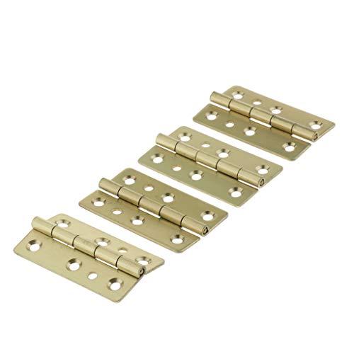 B Blesiya - Bisagra de metal para instrumentos de teclado (4 unidades), color dorado