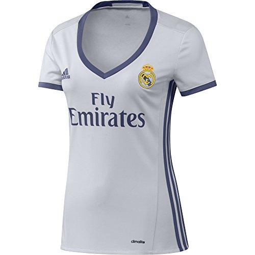 adidas H JSY W Camiseta 1ª Equipación del Real Madrid CF 2015/16, Mujer, Blanco/Morado, XL