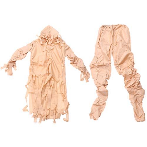 STOBOK Disfraz de momia de Halloween de Espíritu Fantasma de Espíritu de Fantasma, Accesorios de vestir para adultos Halloween Fantasma Festival Fiesta Favor Beige