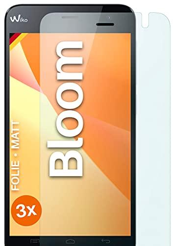 moex Schutzfolie matt kompatibel mit Wiko Bloom - Folie gegen Reflexionen, Anti Reflex Bildschirmschutz, Matte Bildschirmfolie - 3X Stück
