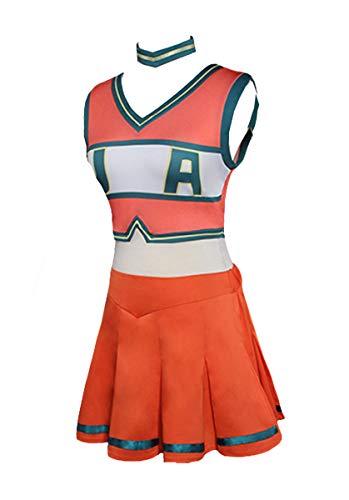 Huiyemy Boku no Hero Academia My Hero Academia Cheerleaders Uniform Kleid Cosplay Kostüm M