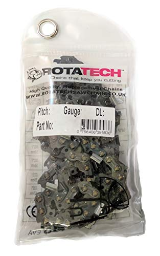 Genuino Rotatech catena per motosega, 72 maglie, 3/8 1.3mm Pitch, Dolmar Echo Husqvarna Stihl