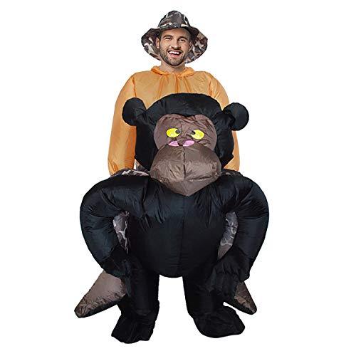 FIZZENN Opblaasbare Gorilla/Flamingo/Haai Kostuum pak Halloween Cosplay Fantasy Kostuums Volwassene
