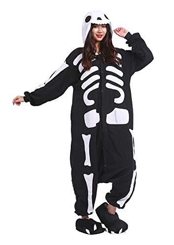 Kigurumi Pijamas Unisexo Adulto Cosplay Traje Disfraces Animal Ropa de Dormir Halloween y Navidad, Huesos