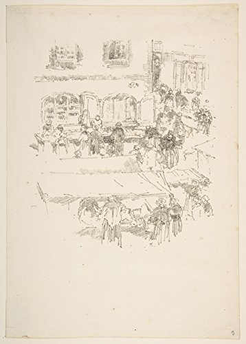 James McNeill Whistler ', dem Markt, vitrã ©' 1893. American Impressionismus, Realist 3D & Schutzhülle/Flipcase. 250gsm, Hochglanz, A3, vervielfältigtes Poster