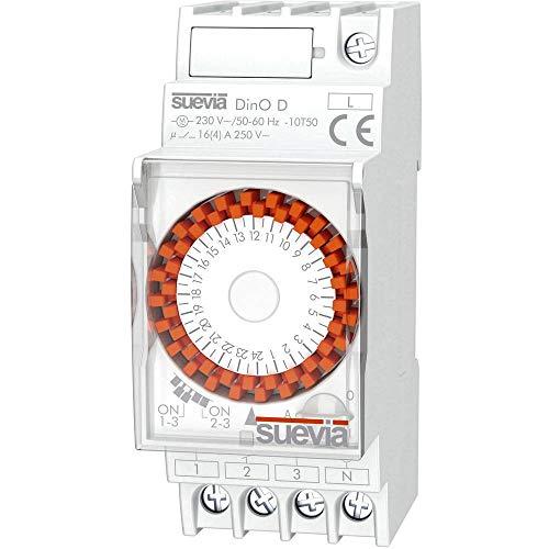 Suevia Zeitschaltuhr für Hutschiene Betriebsspannung: 230 V/AC Dino D 1 Wechsler 16A 250 V/AC Tages