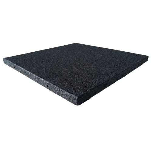 Rubber-Cal Eco-Sport Interlocking Tile-Pack of 5, Coal, 3/4 x 20 x 20-Inch
