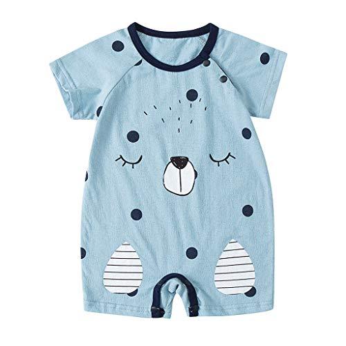 TEFIIR Neugeborene Baby Jungen Mädchen Cartoon Säugling Strampler Jumpsuit Outfits Kletteranzug Baby Kurzarm Cartoon Bodysuit