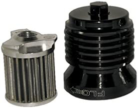 PC Racing PCS4B Black Stainless Steel Flo Oil Filter