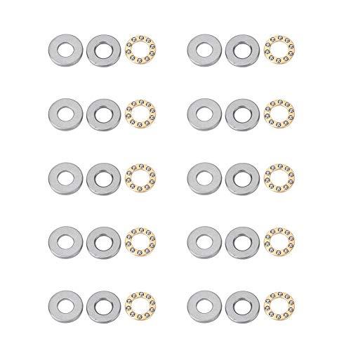 10st stuwkracht kogellager miniatuur hoge snelheid hoge precisie platte stalen lagers set(F12-21M 12 * 21 * 5mm)