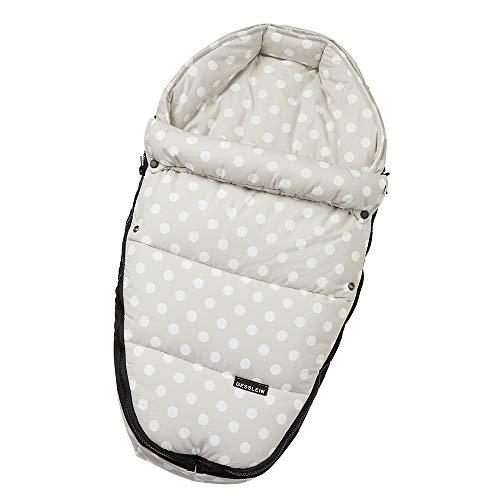 Gesslein Baby-Nestchen, 504 Punkte creme, warmes Kuschelnest/Fußsack für Neugeborene und Säuglinge, für Kinderwagen Wanne, Babyschale, Bettchen und Wiege, inkl. Gurtschlitze, beige, 715504000
