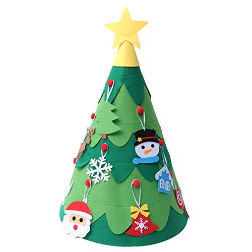 Amosfun DIY Kerst Hoeden Maken Kit Vilt Kerstboom Handcraft Kerstboom Desktop Kerstmis Partij Ornamenten voor School Kleuterschool DIY Ambachten