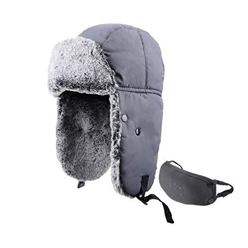 Azarxis Sombrero de Aviador Anti-Viento Nieve Gorro de Invierno Unisex para Pescar Cazar Acampar Ciclismo