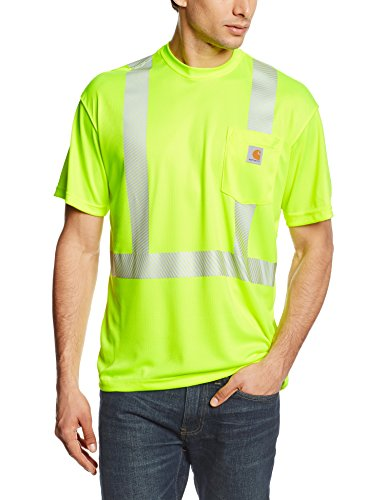 Carhartt Men's High Visibility Force Short Sleeve Class 2 Tee,Brite Lime,Large