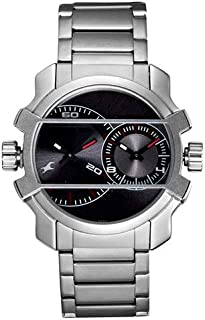 Fastrack Midnight Party Men's Black Dial Metal Band Watch - 3098SM01