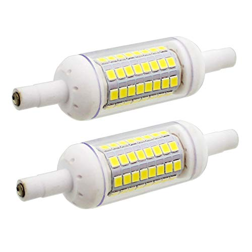 2 Stück, R7S 78mm LED Lampe Birnen Keramik Leuchtmittel 64xSMD2835 Kaltweiß 6000K 500LM Nicht Dimmbar - J Typ Double Ended 60W R7s J78 Halogen Ersatz Glühlampe