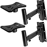 Pyle 90°-30° Angle, Tilt, Rotation Adjustment & Solid-Steel Pin Serves as Safety-Stop Mount Speaker Bracket Stands-Dual Universal Adjustable w/ 12.5'' Distance from Wall (PSTNDW15)