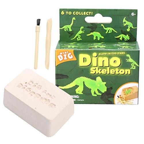 Tomaibaby DIY Kit de Excavación de Dinosaurios Desenterrar Dinosaurios Hueso Esqueleto 3D Dinosaurio Excavación Juguetes Kit-Luminoso