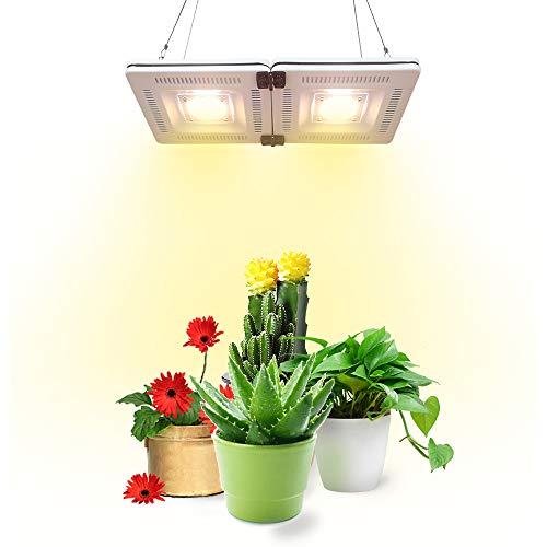 Pflanzenlampe LED 200W Wasserdichte Pflanzenlicht Vollspektrum Wachstumslampe Sonnenlicht mit 84 LEDs für Zimmerpflanzen Gewächshaus mit Ein/Aus Schalter, geräuschlos