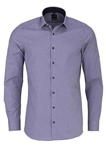 OLYMP Level Five Body fit Hemd extra Langer Arm Muster schwarz Größe 44