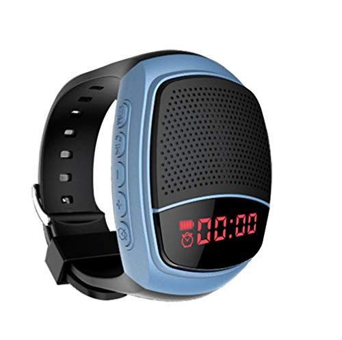 Wireless Bluetooth luidspreker polshorloge draagbare sport armband MP3-muziekspeler digitale wekker handsfree functie telefoon anti-verloren kaartenondersteuning zelf-oplosser USB-ondersteuning