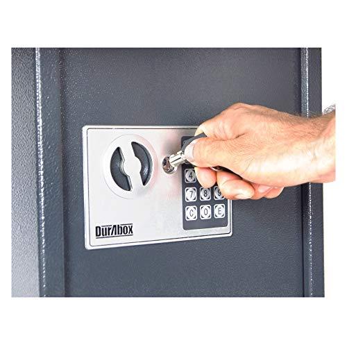 DuraBox 40 Keys Steel Safe Cabinet with Digital Lock - Electronic Key Safe with Drop Slot for Key Returns and Safe Storage (Dark Grey) Photo #4