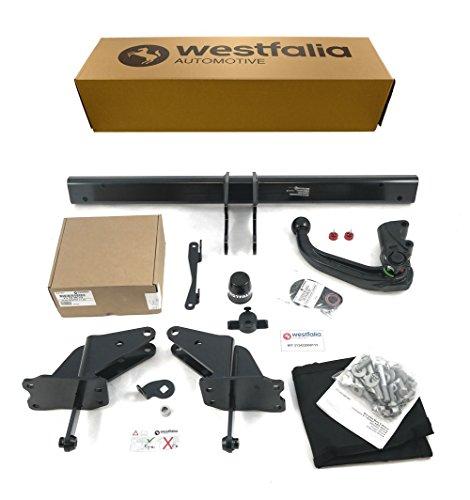 Westfalia abnehmbare Anhängerkupplung für C-Klasse Kombi (ab BJ 09/2014) und C-Klasse Limousine (ab BJ 03/2014) im Set mit 13-poligem fahrzeugspezifischen Westfalia Elektrosatz