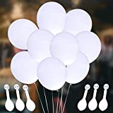 LED Light up Balloons, Leobee 30 Pack White Party LED Balloons Lights for Party Birthday and Wedding Decoration (White Balloons White Lights)