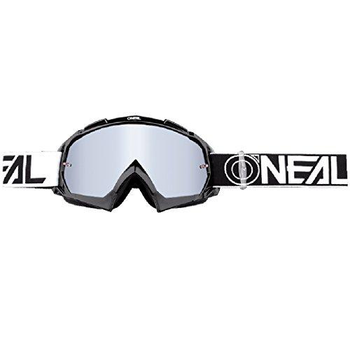 O'NEAL | Fahrrad- & Motocross-Brille | MX MTB DH FR Downhill Freeride | Hochwertige 1,2 mm-3D-Linse für ultimative Klarheit, UV-Schutz | B-10 Goggle TWOFACE | Schwarz Silber | One Size
