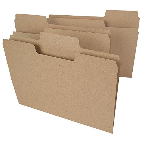 Smead Tree Free SuperTab File Folder, Oversized 1/3-Cut Tab, Letter Size, Natural Brown, 100 per Box (10751)