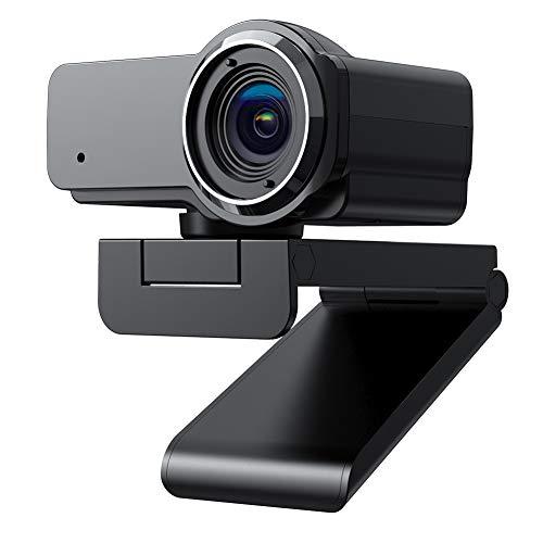 usogood Webcam 1080P HD, Webcam mit Mikrofon for PC/Laptop/Desktop, 360° Drehen USB 2.0 Webkamera für Videoanrufe, Spiele, Live-Streaming, Konferenzen, ideal für Zoom, Skype, FaceTime