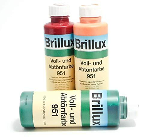 Brillux Voll- und Abtönfarbe 951 matt 0,5 Liter Farbwahl, Farbe:6005 schilf