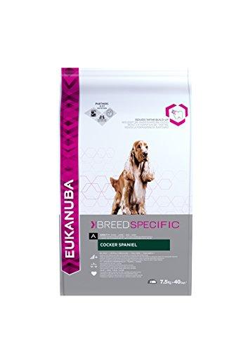 Eukanuba Breed Specific Cocker Spaniel Trockenfutter - optimal auf die Rasse abgestimmtes Premium Hundefutter mit Huhn, 7,5 kg
