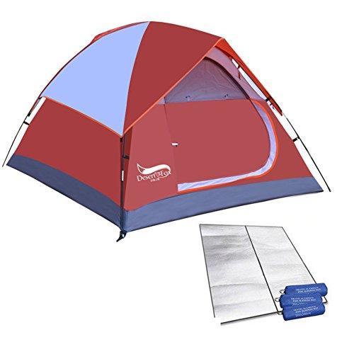 DXG&FX Geschwindigkeit auf3-4 Personen-Zelte Sturmsichere Zelt im Feld- mat-Rot